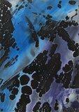 Encaustic Magic Bubble Star  Zwart 6 stuks A6_7