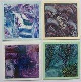 Encaustic schilderkaarten Vierkant Wit 9x9cm 100stuks_19