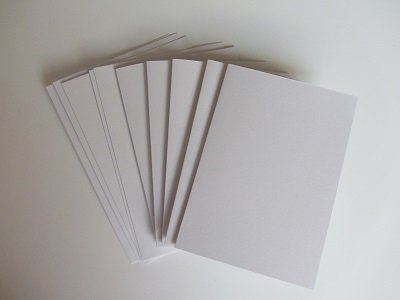 Kaartenset A6 +envelop 5 stuks WIT