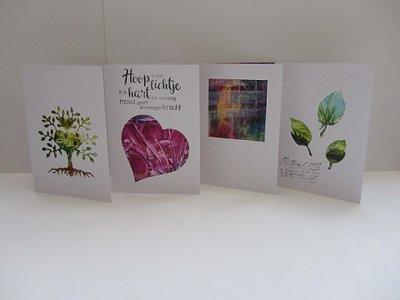 Passepartout kaartenset+envelop 4 stuks WIT 02