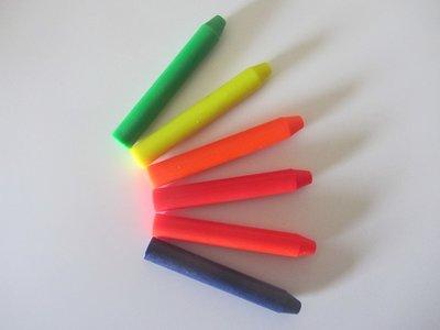 Encaustic wasstaafjes Neonkleuren