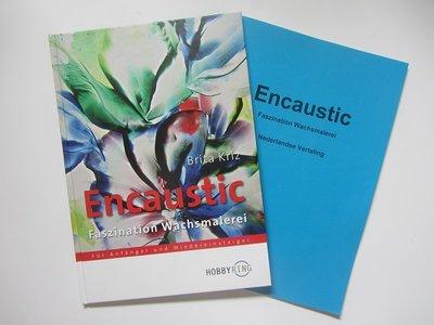 00Boek Encaustic Faszination Wachsmalerei+Nederlandse vertaling tekst