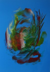 A4 encaustic gekleurd papier Blauw 6 stuks