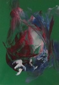 A4 encaustic gekleurd papier Groen 6 stuks