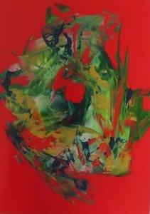 A5 encaustic gekleurd papier Rood 6 stuks