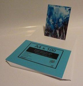 06 Encaustic schilderkaarten Wit A4 Formaat 100st.
