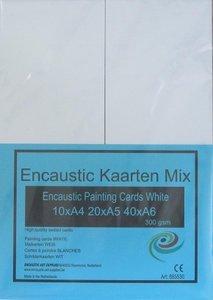09 Encaustic schilderkaarten Wit Mix 70st.
