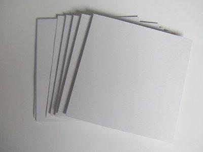 Kaartenset vierkant+envelop 5 stuks WIT