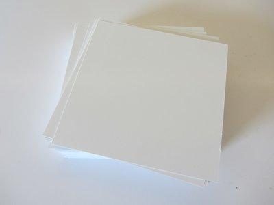 Encaustic schilderkaarten Vierkant Wit 12x12cm 100 stuks